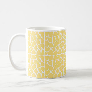 Mug Motif de girafe. Jaune