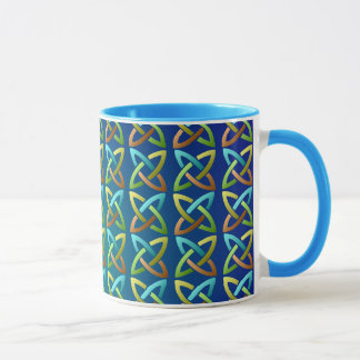 Mug Motif de noeud celtique coloré