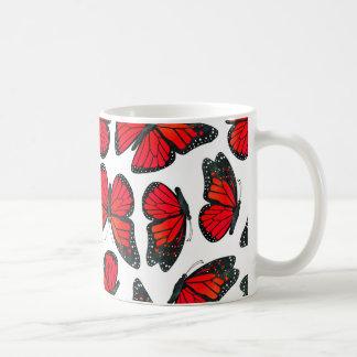 Mug Motif de papillon rouge de monarque
