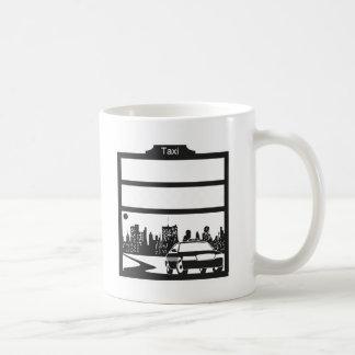 Mug motif de taxi