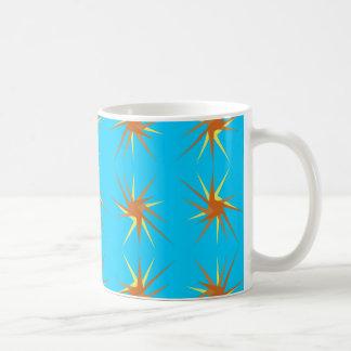 Mug Motif d'éclats d'étoile en crème et beige,