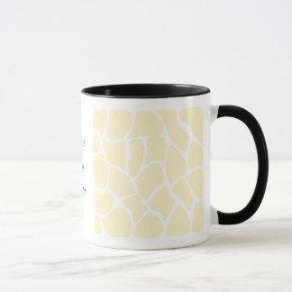 Mug Motif d'impression de girafe dans la couleur crème