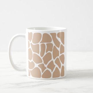Mug Motif d'impression de girafe dans le beige