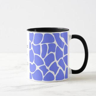 Mug Motif d'impression de girafe dans le bleu de