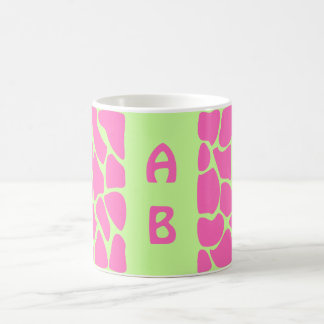 Mug Motif d'impression de girafe dans rose et vert