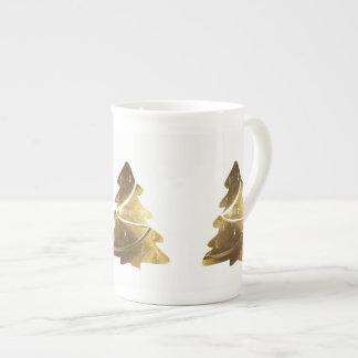 Mug Motif élégant de sembler d'or d'arbre de Joyeux