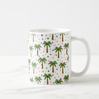 Mug Motif mignon avec des palmiers et des formes