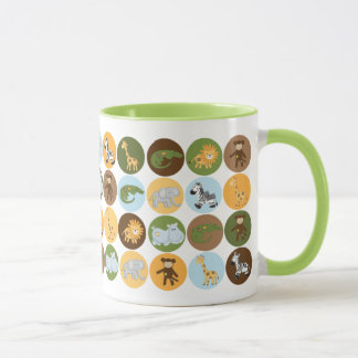 Mug Motif mignon d'animaux de jungle