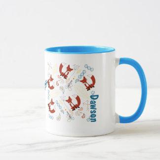 Mug Motif moderne personnalisé de région boisée de Fox