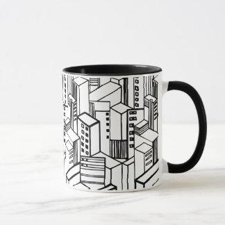 Mug Motif tiré par la main urbain