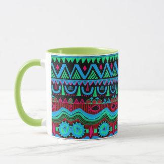 Mug Motif tribal bleu rose Girly à la mode