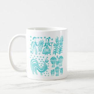 Mug Motif vintage de Pyrex - bleu de turquoise de