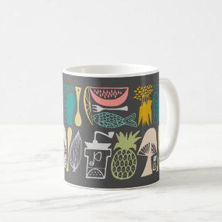 Mug Motif vintage de Pyrex - cuisine de mod (couleurs
