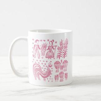 Mug Motif vintage de Pyrex - rose de Butterprint