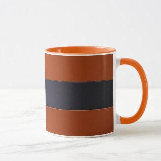 Mug Mur de bande dans l'orange