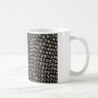 Mug Mur noir et blanc de structure de matrices