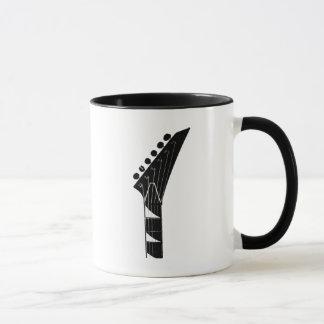 Mug Musique noire et blanche de guitare électrique