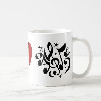 Mug Musique rouge d'harmonie d'amour de symbole de