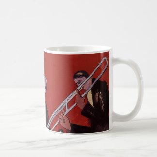 Mug Musique vintage, bloquer musical de jazz-band