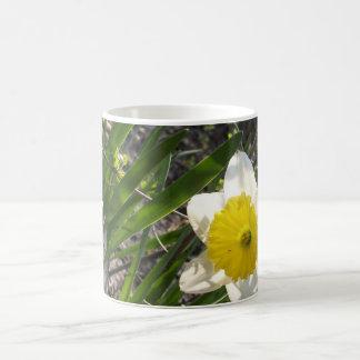 Mug nature florale de fleur jaune de jonquille