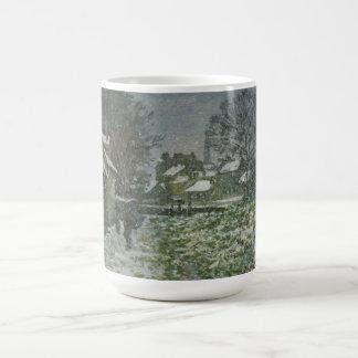 Mug Neige à Argenteuil par Claude Monet, art vintage