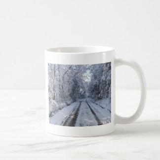 Mug Neige de route de campagne