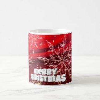 Mug Neige rouge de blanc de Noël