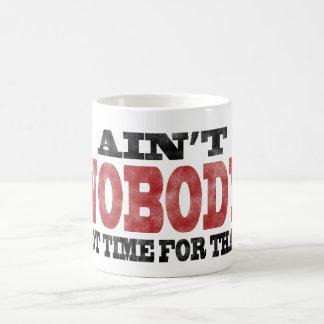 Mug N'est PERSONNE heure obtenue pour cela