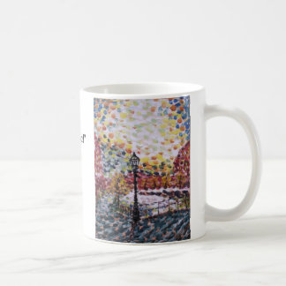 "Mug ""New Morning huile sur canal néerlandais ""… -"