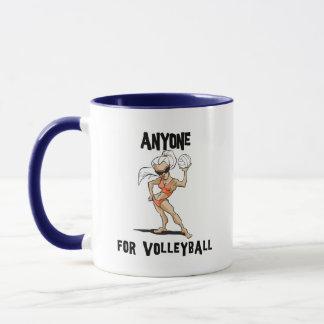 Mug N'importe qui pour des femmes de volleyball