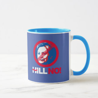 Mug NO- Hillary tordue de colline - - Anti-Hillary --