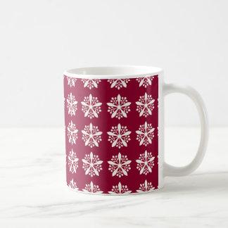 Mug Noël avec des flocons de neige - arrière - plan