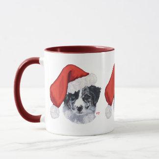 Mug Noël de border collie