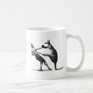 Mug Noël de kangourou de boxe