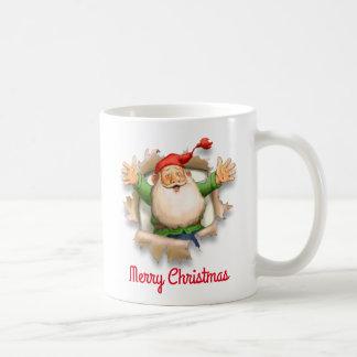 Mug Noël de la surprise de Père Noël Joyeux