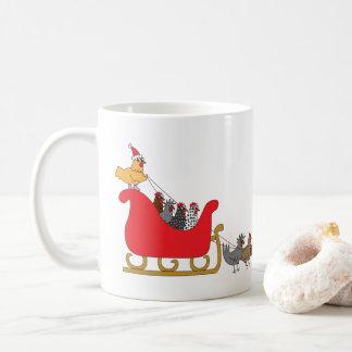 Mug Noël de poulets