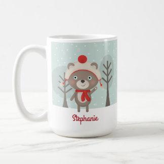 Mug Noël d'ours de région boisée