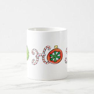 Mug Noël mignon Ho Ho Ho, ornements de sucres de canne