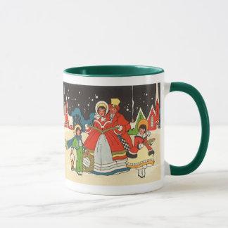 Mug Noël vintage, hymnes de louange d'une musique de
