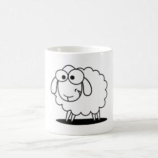 """Mug Noir drôle de """"un agneau blanc"""""""