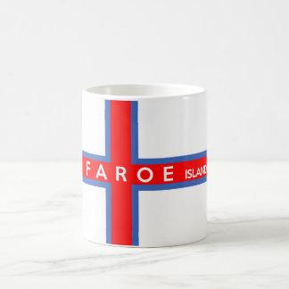 Mug nom des textes de drapeau de pays des Iles Féroé