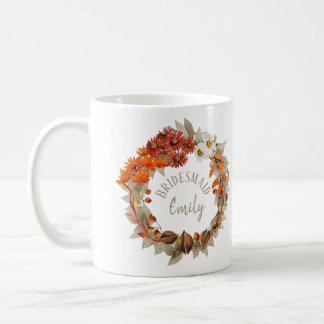 Mug Nom orange ID465 de demoiselle d'honneur de