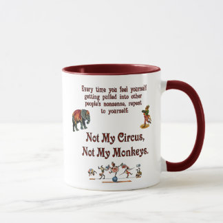 Mug Non mes singes, non mon cirque