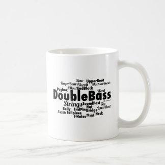 Mug Nuage de mot de double basse