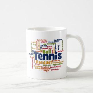 Mug Nuage de mot de tennis