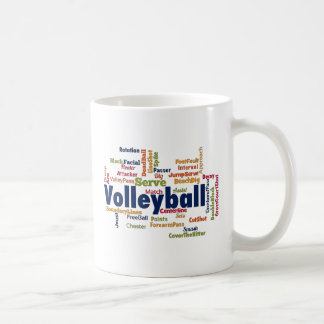 Mug Nuage de mot de volleyball