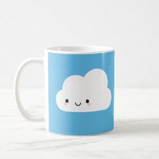 Mug Nuage heureux de Kawaii et nuage de pluie triste