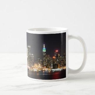 Mug Nuit d'horizon de Manhattan New York