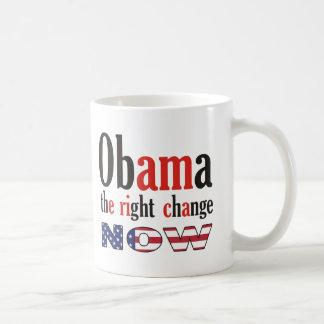 Mug Obama - le bon changement maintenant (l'Amérique)