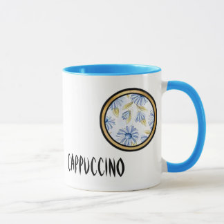 Mug Objet de collection bleu de mélange et de match -